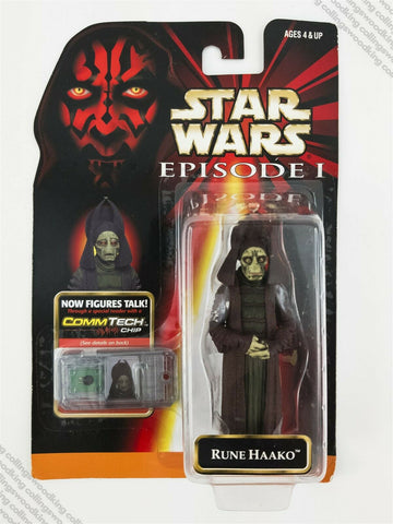 "1999 Hasbro Star Wars Episode 1 Rune Haako 3 & ¾"" action figure MOC"