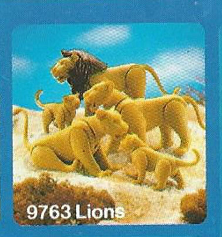Vintage 1984 Playmobil Animal Series #9763 Lions mint sealed factory bag Mattel