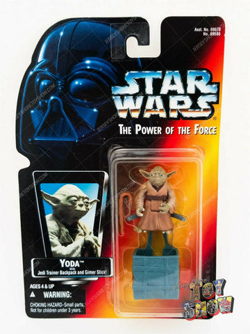 1996 Kenner Star Wars POTF2 Yoda action figure MOC - red card