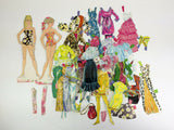 Vintage 1969 Whitman Barbie Dolls and Clothes paper dolls Mod fashion Mattel