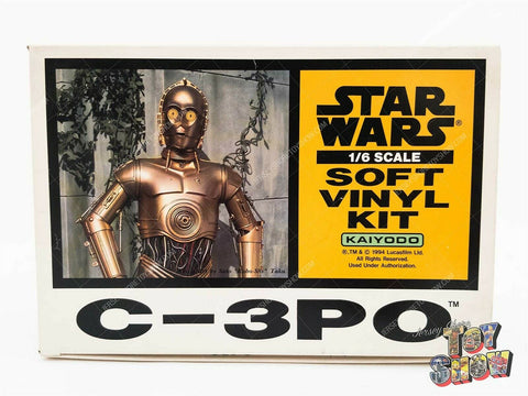 1994 Kaiyodo Star Wars 1/6 scale C-3PO soft vinyl model kit mint in box MIB