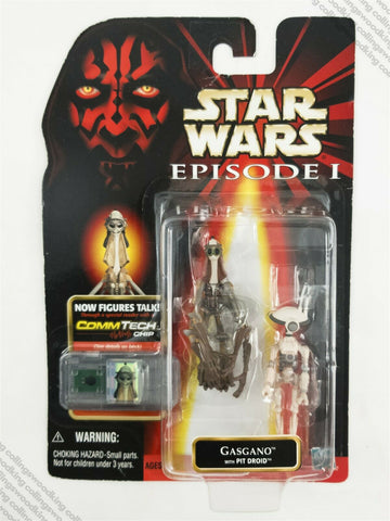 "1999 Hasbro Star Wars Episode 1 Gasgano & Pit Droid 3 & ¾"" action figure MOC"