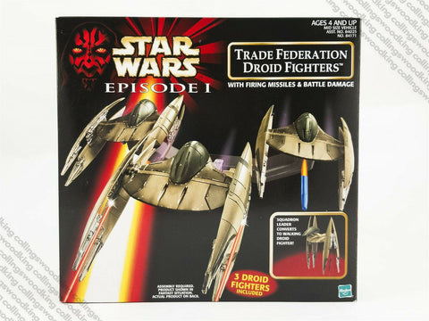 1998 Hasbro Star Wars Episode 1 Trade Federation Droid Fighters vehicle MIB