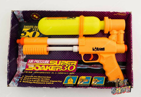 Vintage 1990 Larami Super Soaker 30 water gun in original box - USED