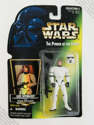 1995 Kenner Star Wars POTF2 Luke Stormtrooper action figure MOC green card holo