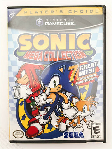 2002 Nintendo Gamecube Sonic Mega Collection game - Player's Choice EX / NM