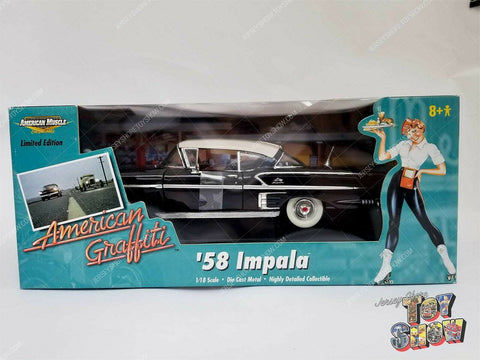 ERTL Collectibles American Graffiti '58 Impala black 1/18 diecast car MIB - NEW