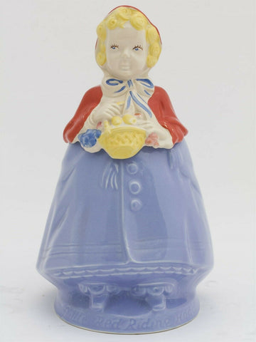 Vintage 1950's Pottery Guild of America Little Red Riding Hook cookie jar