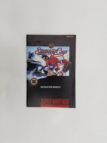 1993 Super Nintendo SNES NHL Stanley Cup instruction manual / booklet