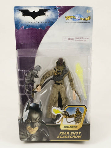 2008 Mattel DC Batman The Dark Knight Fear Shot Scarecrow action figure MOC