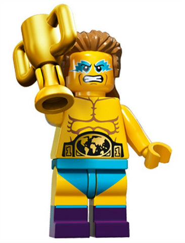 2016 LEGO #71011 Minifigures Series 15 #14 Wrestling Champion minifig