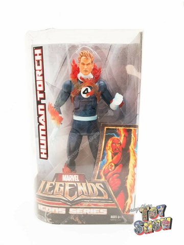 "2006 Hasbro Marvel Legends Icons Human Torch 12"" action figure MISB sealed NEW"
