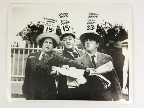 Vintage The Three Stooges Moe Larry & Curly glossy 8 x 10 photo - celebrity