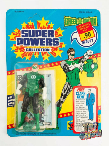 Vintage Kenner Super Powers Green Lantern MOC 23-back card Free Clark Kent offer