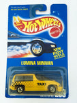 Vintage 1991 Mattel Hot Wheels #259 Lumina Minivan Taxi New Paint Style MOC
