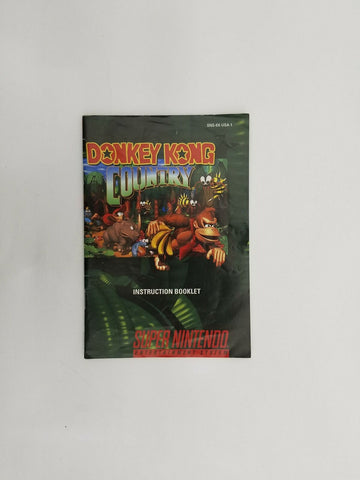 1994 Super Nintendo SNES Donkey Kong Country instruction manual / booklet