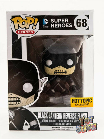 Funko POP! DC Super Heroes #68 Black Lantern Reverse Flash vinyl figure MIB Excl