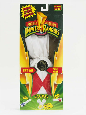 Vintage 1994 Mighty Morphin Power Rangers Sound Effects Gloves MISB - Red Ranger