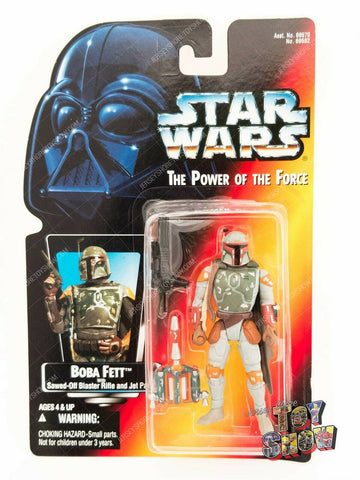 1996 Kenner Star Wars POTF2 Boba Fett action figure MOC - red card Dots on Hand
