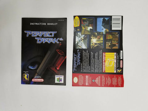 2000 Nintendo 64 N64 Perfect Dark instruction manual / booklet