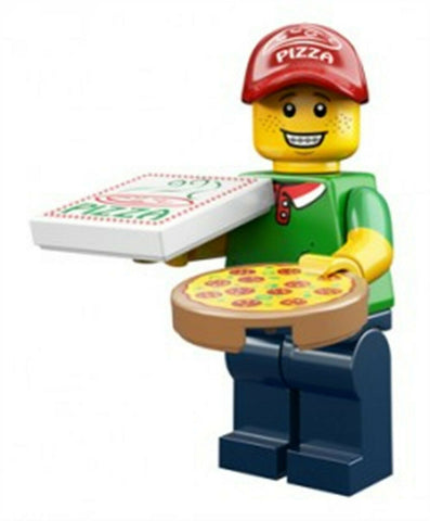 2014 LEGO #71007 Minifigures Series 12 #11 Pizza Delivery Man minifig
