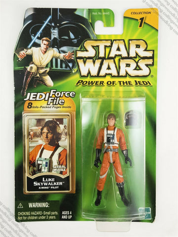 2001 Hasbro Star Wars POTJ Luke Skywalker X-Wing Pilot action figure MOC