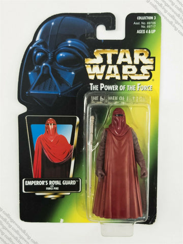 1997 Kenner Star Wars POTF2 Emperor's Royal Guard action figure MOC - green card