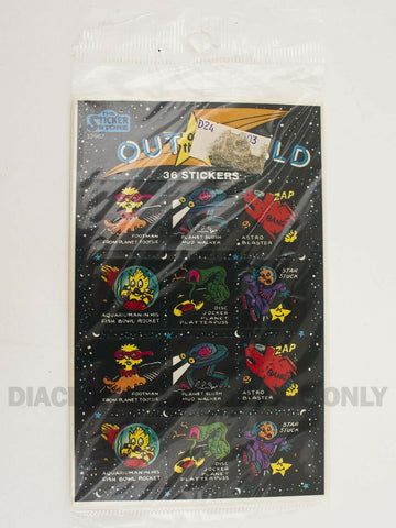 Vintage 1980's The Sticker Store Out of this World Space stickers MIP