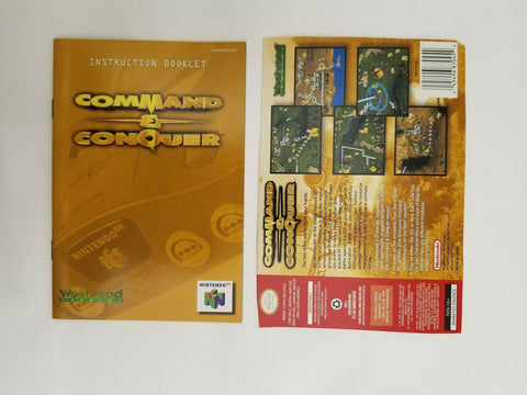 1999 Nintendo 64 N64 Command & Conquer instruction manual / booklet