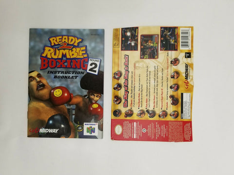 2000 Nintendo 64 N64 Ready 2 Rumble Boxing Round 2 instruction manual / booklet