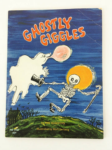 Vintage 1971 Scholastic Ghostly Giggles #TW1927 children's book Halloween