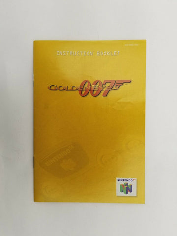 1998 Nintendo 64 N64 Goldeneye 007 instruction manual ONLY