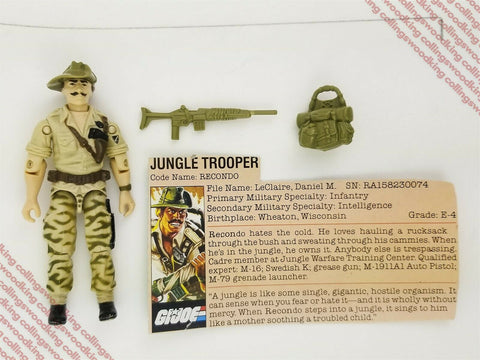 "Vintage 1984 Hasbro G.I. Joe Recondo 3 & 3/4"" action figure C8 / C8.5 complete"