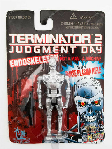 "1995 Toy Island Terminator 2 Judgment Day Endoskeleton 4"" action figure MOC NEW"