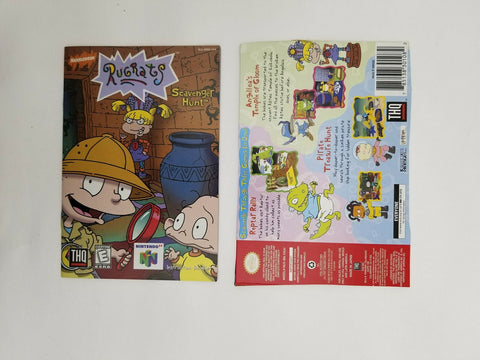 1999 Nintendo 64 N64 Rugrats Scavenger Hunt instruction manual / booklet