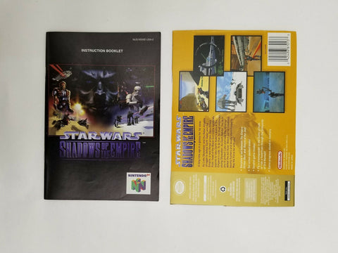 Nintendo 64 N64 Star Wars Shadows of the Empire instruction manual / booklet