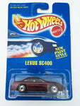 Vintage 1991 Mattel Hot Wheels #264 Lexus SC400 New Paint Style mint on card MOC