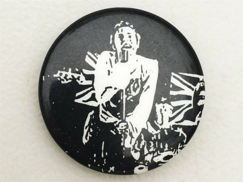 Vintage 1980's Sex Pistols Johnny Rotten John Lydon concert pin back button punk