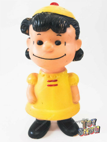 Vintage 1958 Hungerford Peanuts Lucy vinyl figure toy - Snoopy Charlie Brown
