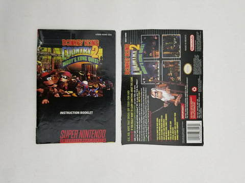 Super Nintendo SNES Donkey Kong Country 2 Diddy's Kong Quest instruction manual