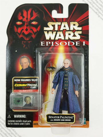 "1999 Hasbro Star Wars Episode 1 Senator Palpatine 3 & ¾"" action figure MOC"