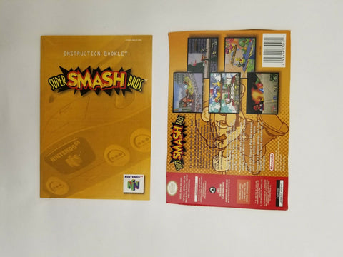 1999 Nintendo 64 N64 Super Smash Bros. instruction manual / booklet