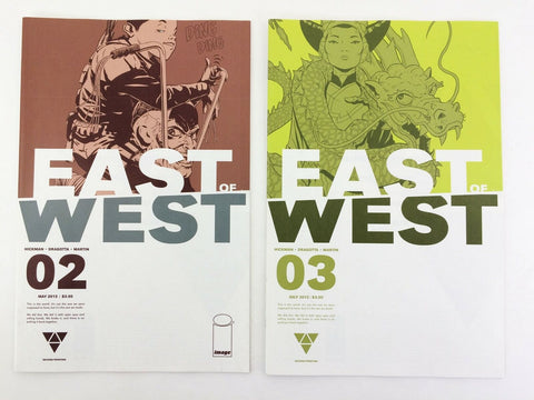 Image East of West 2013 #2 & 3 comic book lot - NM Second Printing