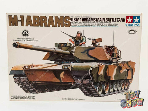 Vintage 1980's Tamiya 1/35 U.S. M-1 ABRAMS Main Battle Tank model kit MIB UNUSED