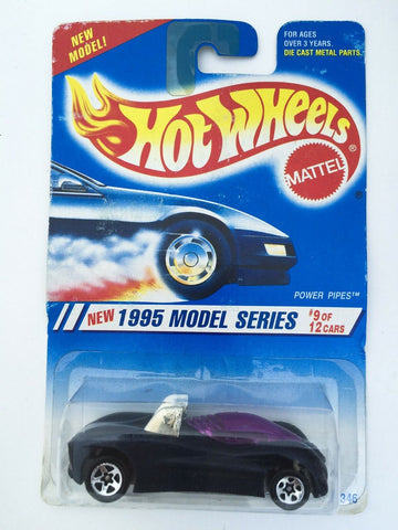 Vintage Mattel Hot Wheels #349 1995 Model Series #9 Power Pipes mint on card MOC