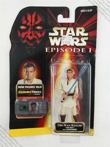 "1999 Hasbro Star Wars Episode 1 Obi-Wan Kenobi (Jedi Duel) 3 & ¾"" action figure"