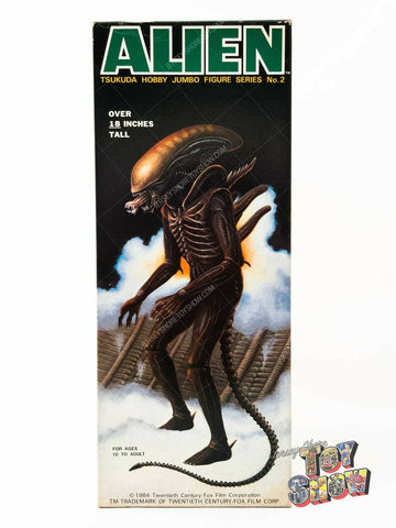 "Vintage Tsukuda Hobby Jumbo Figure Series No. 2 Alien 18"" model kit MIB Kenner"