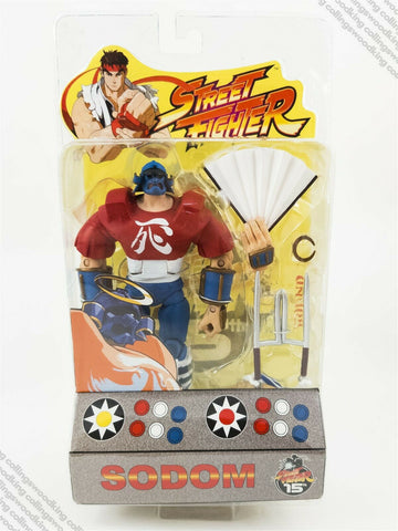 "2004 SOTA Street Fighter Round 1 Sodom 7"" action figure MIP / MOC - Capcom"