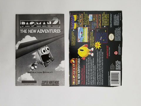 Super Nintendo SNES Pac-Man 2 The New Adventures instruction manual / booklet