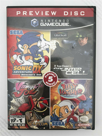 2003 Nintendo Gamecube Preview Disc demo - complete excellent / near mint